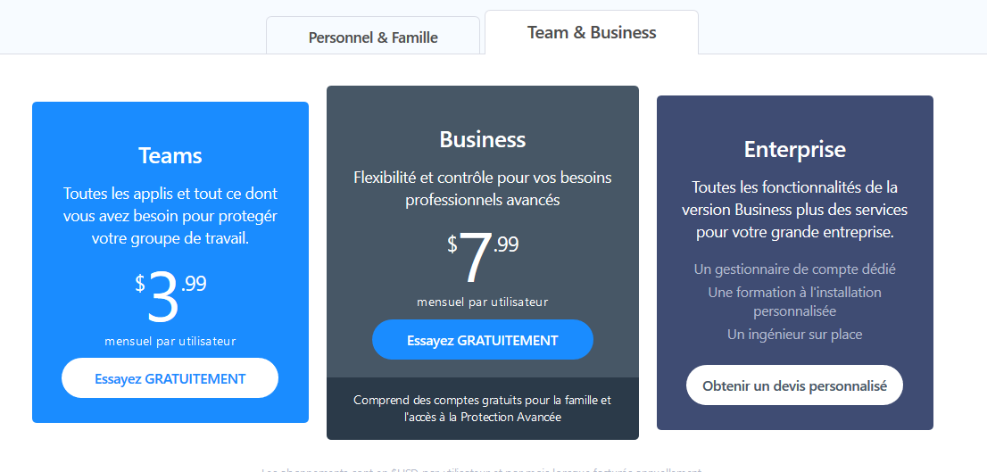 1password tarifs business